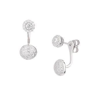 Silver örhängen och zirkoniumoxider -apos;Klassiska hängsmycken- apos;