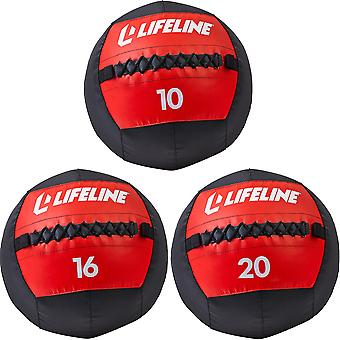 Lifeline USA Fitness Exercise Training Wall Ball - Noir/Rouge