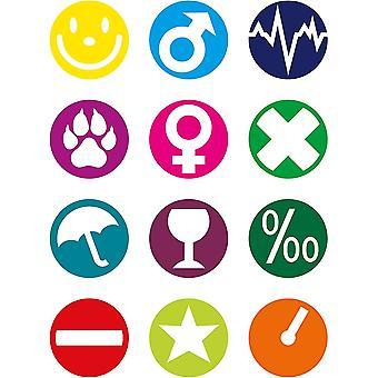 Wokex Glasmarker, wiederverwendbare Glasmarkierer, Markierungen für Gläser und Flaschen (Farbe: