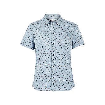 Lucienne imprimió tencel camisa denim ligero
