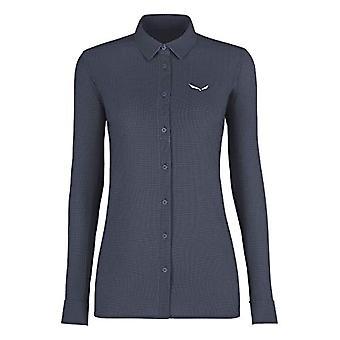 Salewa Puez Minicheck2 Tshirt, Woman, Blue Shadows, 40/34