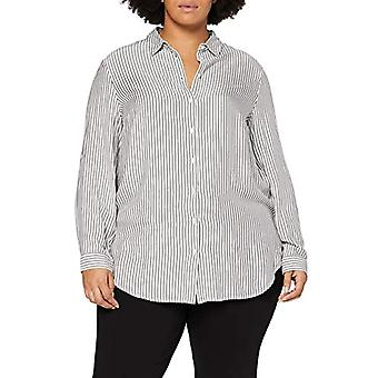 TOM TAILOR MY TRUE ME Lange Streifen T-Shirt, 24807-Offwhite Charcoal St, 52 Donna