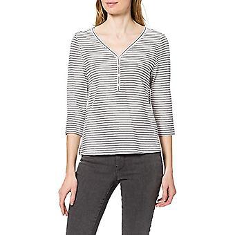 Bare ONLMARY Life 3/4 Top Jrs T-skjorte, Cloud Dancer / Stripes: Night Sky, XL Woman