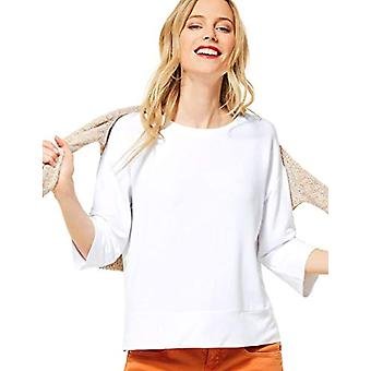 Street One 315496 T-Shirt, White, 48 Woman