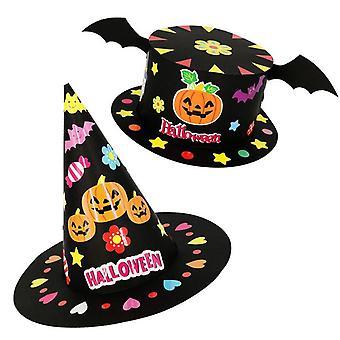 هالوين Diy قبعة، اليدوية، الكرتون حزب الديكور القبعات، ورقة كاب، ولي العهد