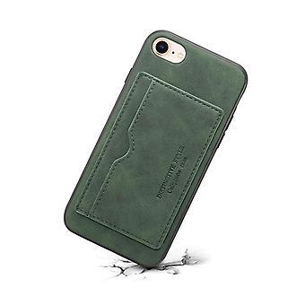 Portefeuille étui en cuir fente pour carte pour iphone xr6.1 vert foncé no3070