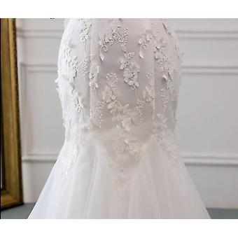 Nouveau style Belle robe de mariée en dentelle de fleurs tridimensionnelle
