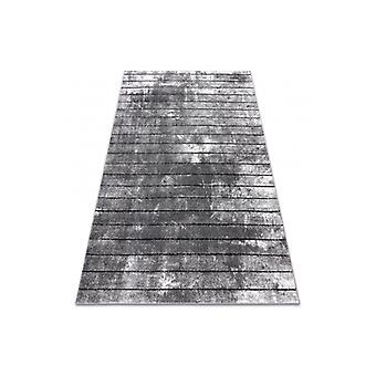 Modern rug COZY 8654 Raft, Lines - structural two levels of fleece grey