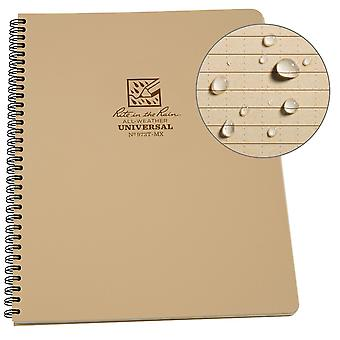 Rite in the Rain Waterproof Unisex Outdoor Notepad 8.5 x 11 inch - Tan