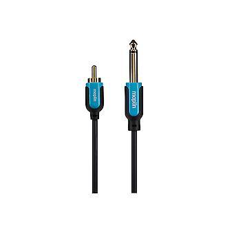 """Maplin Premium 1/4"""" Mono 2 Pole Jack zu Phono Stecker Kabel 5m Gold Steckverbinder"""
