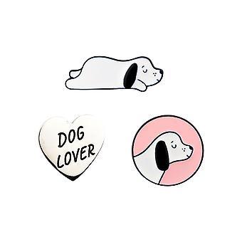 Sass & Belle (Set van 3) Barney The Dog Pin Badges