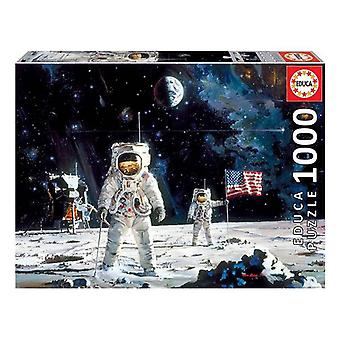 Puzzle First Man on the Moon Robert Mccall Educa (1000 pcs)
