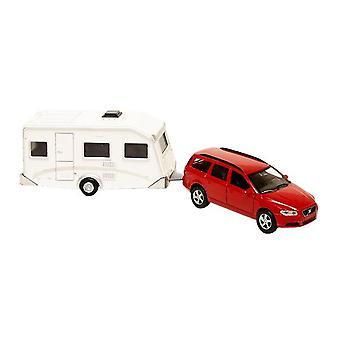 Kids Globe Volvo V70 With Caravan