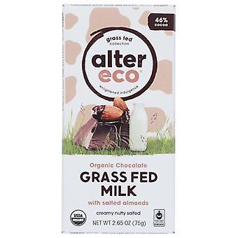 Alter Eco Choc Grssfd Mlk Slt Almd, Case of 12 X 2.65 Oz