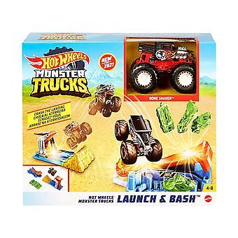Hot Wheels Monster Trucks Lancio e Bash Play Set