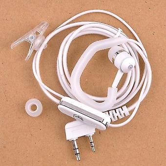 новая белая рации в наушниках-крючках радио наушники ptt sm45552