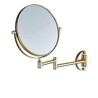 Swotgdoby Wall Mounted Makeup Mirror - 3x Magnification Two-sided Swivel Extendable Bathroom Mirror