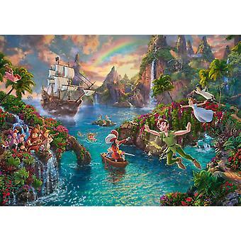 Schmidt Kinkade: Disney Peter Pan pussel (1000 stycken)