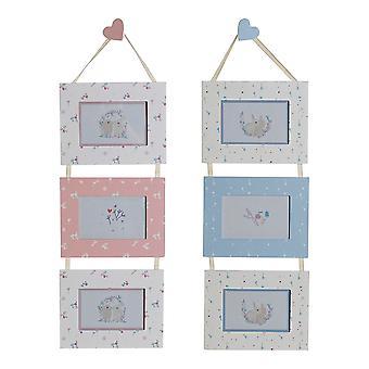 إطار الصورة DKD ديكور المنزل متعددة أرنب MDF الخشب (2 PCS) (22 × 1 × 67 سم)