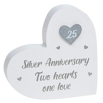 Joe Davies Provence Silver Anniversary Standing Heart Plaque 200911