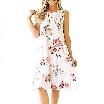 Women's Sleeveless Rose Print Dress