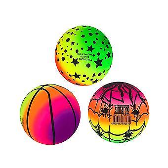 16X16cm kuten kuvassa 3kpl 16cm sateenkaari pallot elastinen ympäristöystävällinen pvc ranta pelata pallo potkupallo pallo lasten lelu sisätiloissa ulkona dt3862