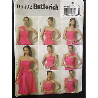 Butterick Ompelu kuvio 5492 Misses Ladies Top & Hame Koko 8-14 Uusi Leikkaamaton