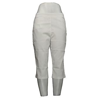 Susan Graver Mujeres's Pantalones Ultra Stretch Pedal Pushers Blanco A254358
