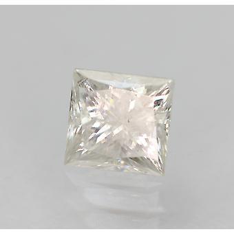 Certificado 0.47 Quilates E SI2 Princesa Aprimorada Diamante Natural Solto 4.32x4.12mm