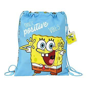 Backpack with Strings Positive Vibes Spongebob