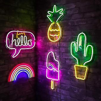 קיר תלוי Led ניאון שלט עבור חג המולד חנות חנות חלון אמנות עיצוב קיר ניאון אורות