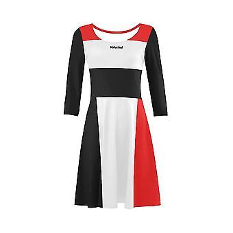 Klassisches 3/4 Sleeve Fit Flare Kleid