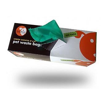 Lola Bean Pet Waste Bags - Parfum de citron - 200 Sacs - 13» Long x 8» De Large