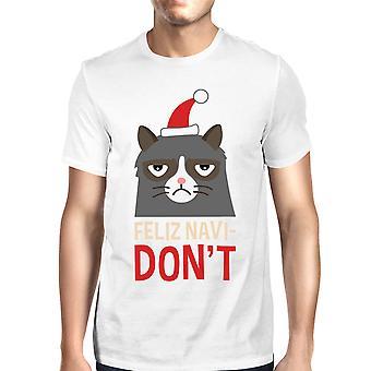 フェリス Navidon't 白猫愛好家のためのメンズ t シャツ クリスマス プレゼント