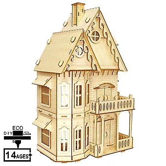 """Doll House Eco-toy """"dream House"""", 46 Cm With Furniture 10 Pieces"""