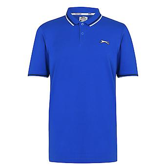 Slazenger Mens Tipped Polo Shirt Top 2.0 Short Sleeves Collared Casual Tee