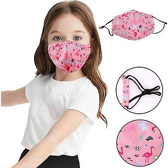 Barn Ansiktsmask Design Återanvändbar tvättbar Madks Facemask 10st
