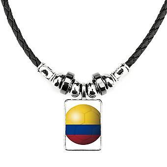 Kolumbijský národný vlajka futbalový náhrdelník