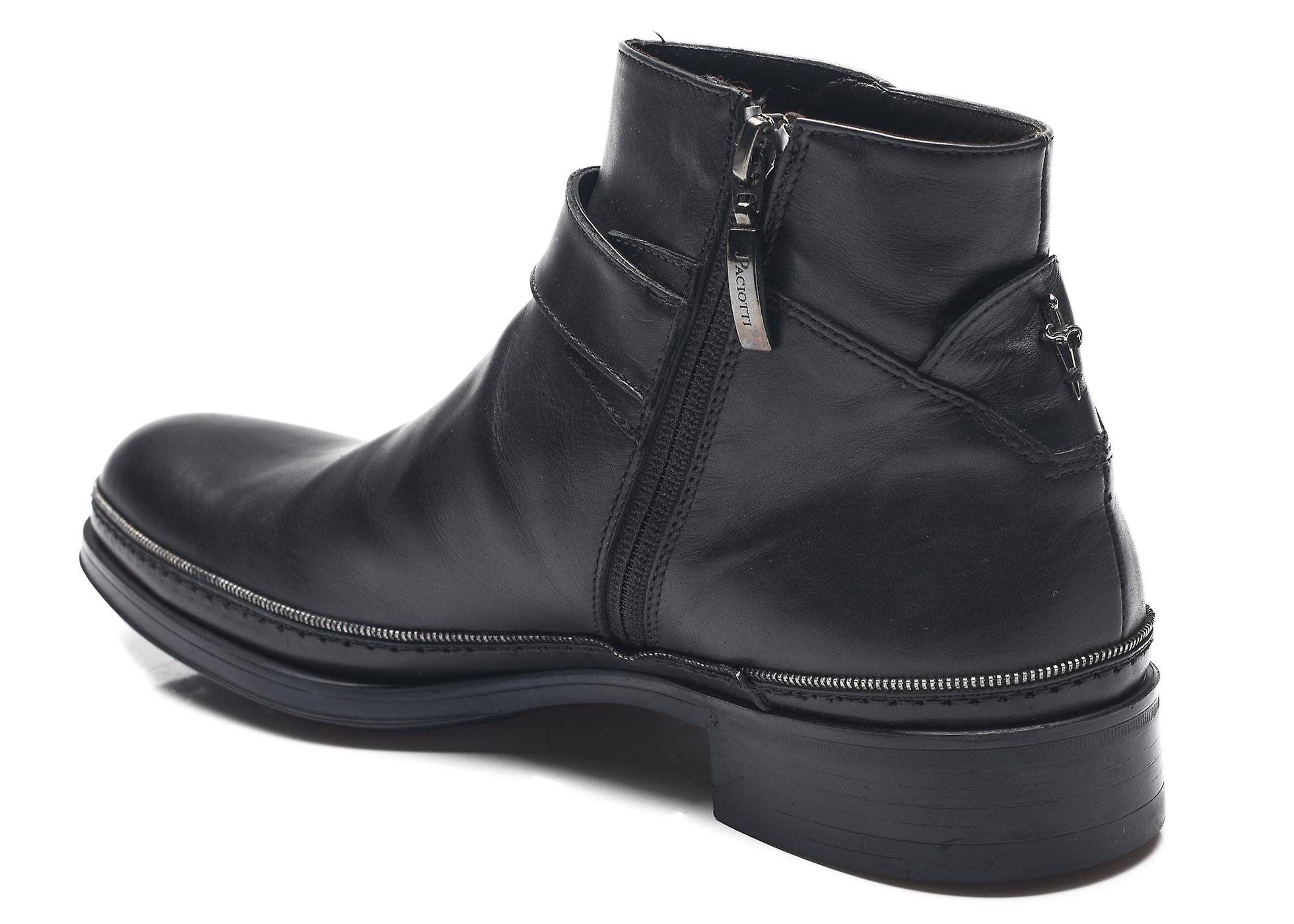 Cesare Paciotti Men Leather Dan Calf Boots Black