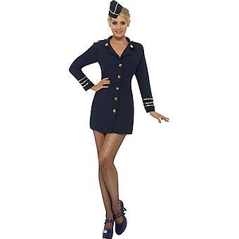 Stewardess kostuum blue racer stewardess kostuum
