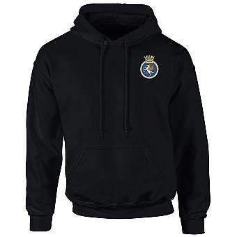 HMS Unicorn Embroidered Logo - Official Royal Navy Hoodie