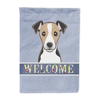 Carolines skarby BB1447GF Jack Russell Terrier Zapraszamy flaga ogród rozmiar