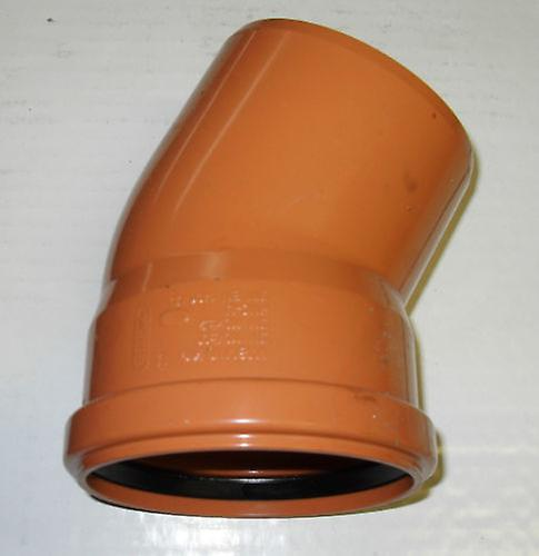 Soil Pipe 15 Degree Bend 110 mm Inlet - Push Fit - Brown - Underground - Waste