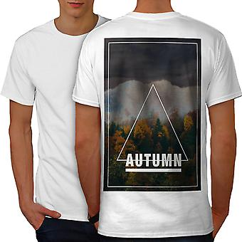 Autumn Season Art Men WhiteT-shirt Back | Wellcoda