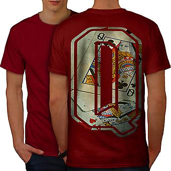 Letra Q de Queen moda homens RedT-camisa costas | Wellcoda