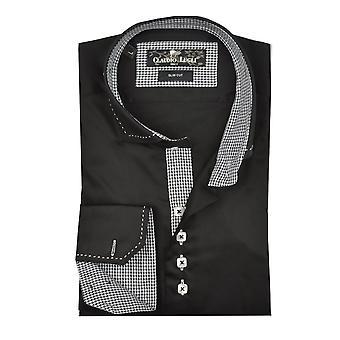 كلاوديو Lugli Cutaway غرزة طوق الرجال قمصان
