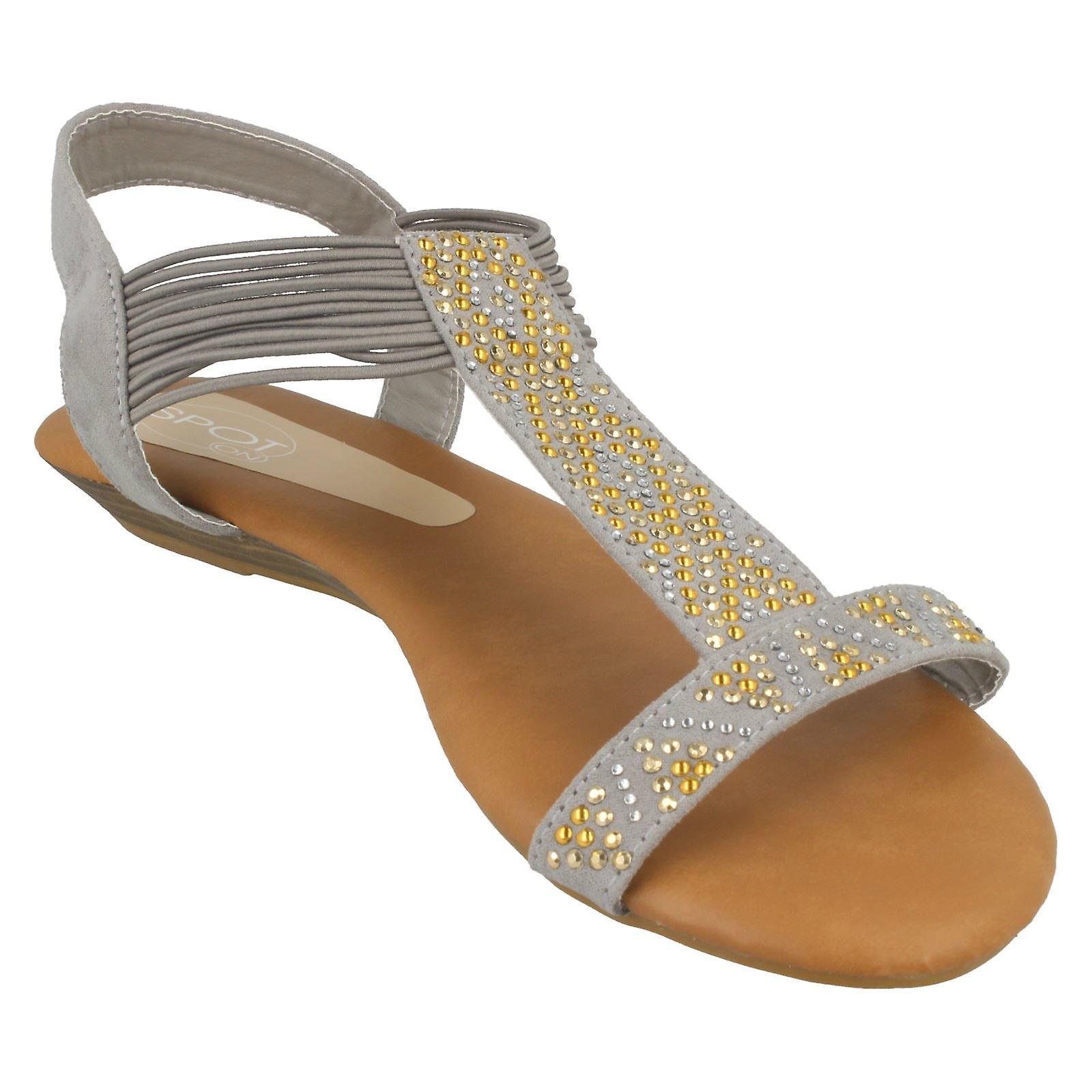 Ladies Spot On Flat Sandals F10589 GCqQvw