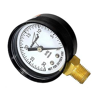"American Granby IPVG302-4L 2"" Dial 0-30 Hg"" Plastic Case Lower Pressure Guage"