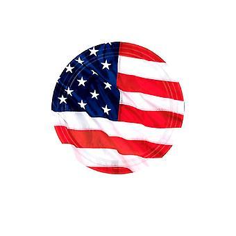 Piastre di bandiera Stati Uniti d'America