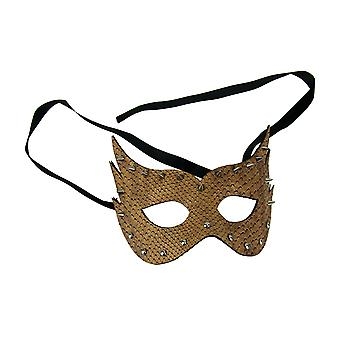 Andromeda Adult Masquerade Spiked Leather Eye Costume Mask